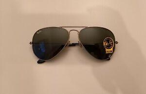 Ray-Ban Sonnenbrille RB3025 58 Aviator Pilotenbrille kaum getragen