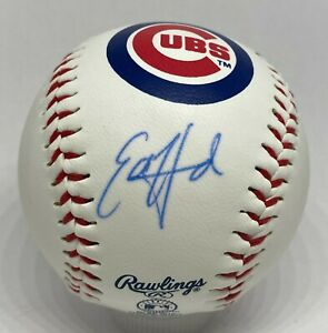 Ed Howard Signed Chicago Cubs Logo Baseball BAS WITNESSED Sticker ONLY Auction1