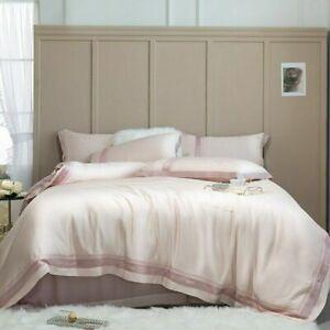 Bedding Set 800TC Tencel Bed Linens Bed Sheet Set Bedclothes Pink Bed Cover 4pcs