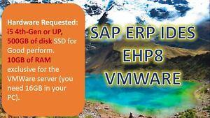 SAP ERP EHP8 - IDES Vertion with All ERP modules (MM, PP, SD, FI...)