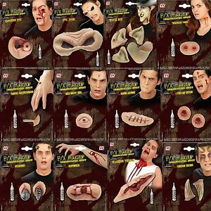 Halloween Horror 3D Make Up FX Latex Eye Sockets Fancy Dress Wounds Burns Scars
