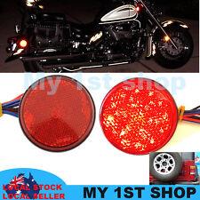 LED Brake Stop Light Side fork Reflector Lamp tail Truck Trailer ATV Motorcycle