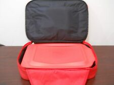 """Pyrex Portables 3pcs 9"""" X 13"""" Casserole Red Lid Insulated Portable Food Carrier"""