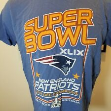 Junk Food New England Patriots  T-Shirt Blue  MED NFL  Super Bowl XLIV