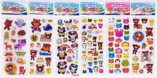 2018 Cartoon 3D Kids Embelli Shments Stickers Toys Bear-Lot Of 6 Kids Birthday A