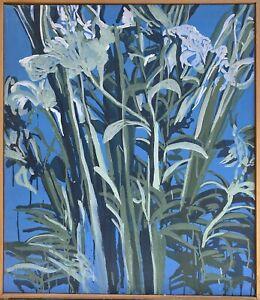 Brigitte Tietze Berlin Oil Painting Still Life Flowers Lilies Green White