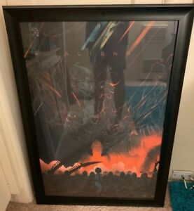 Kevin Tong ALIENS MONDO Limited Edition Print SOLD OUT Variant Framed! Alien