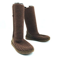 Ugg Australia Classic Cardy Knit Brown Womens Boots Size 7