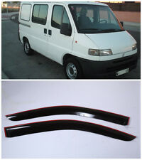Wide Window Visors Side Sun Rain Guard Vent Deflectors For Fiat Ducato 1994-2006