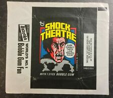 Topps Bubble Gum Cards - SHOCK THEATRE - USA 1975 - Empty Wax Wrapper