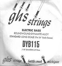 Corde basse 1 corde GHS-DYB115 - à l'Unité - Roundwound Dynamite Alloy