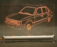 Opel Kadett D als  AutoGravur auf LED-Leuchtschild