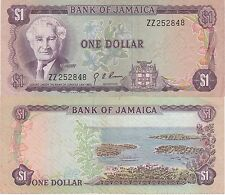 """Jamaica 1 Dollars Banknote,(1976) Extra Fine,Cat#59-A-ZZ""""Replacement Note"""""""