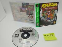 Crash Bandicoot (PlayStation 1, PSX, PS1) Complete with Manual, No Scratches!