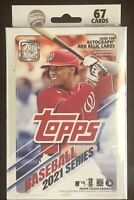 2021 Topps Series 1 Hanger Box -New Factory Sealed - 67 Cards - Rookies Auto?