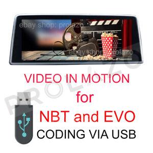 BMW NBT and EVO VIM Video In Motion Coding via USB 2014-2018