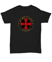 Knights Templar symbol shirt - In hoc signo vinces - Medieval Templar cross tee