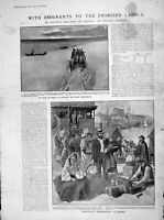 Old Antique Print 1905 Emigrants Quebec Rosthern Canada Alberta Vancouver 20th