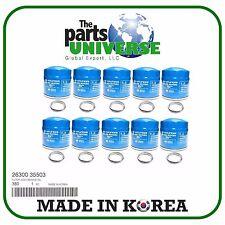 GENUINE OEM Oil Filter 10PACK For 86-16 Hyundai Accent Elantra Sonata Kia Optima