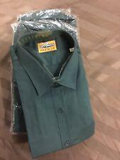 (Pack of 6) Motoman Long Sleeve Work Shirt 100% Cotton 190gsm Bottle Green 2XL
