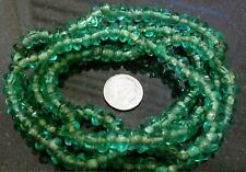 35 inch green transparent glass chip bead necklace bs136