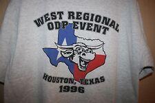 Vintage ADIDAS Houston Texas TX 1996 Soccer T-Shirt Mens Large Heather Gray L