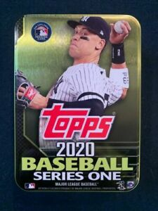 2020 Topps Series One Baseball - EMPTY TIN BOX of AARON JUDGE - No Cards Inside