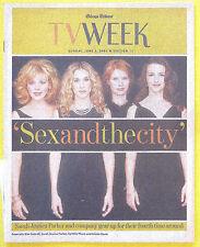 Sarah Jessica Parker SEX AND THE CITY Chicago Tribune TV Week guide Jun 3 2001