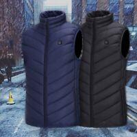 Electric USB Winter Heated Warm Vest Men Women Heating Coat Jacket Clothing Coat