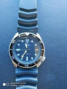 Seiko Black Men's Divers Watch 7002-700A,17j, Auto, 150m, Suwa. c 1992