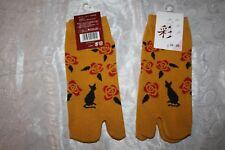 sehr süß Tabi 足袋 mit Katzen Kimono Socken aus Japan Gr.22-25cm für Damen