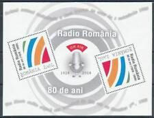 262288) Rumänien Block 439** 80 Jahre Radio Romania