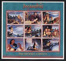 "GUYANA 1995, ""POCAHONTAS"" ANIMATED FILM, MOVIES Scott 2985, SHEET 9, MNH"