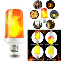 4 Modes LED Flame Effect Fire Light Bulb Flickering Emulation Flaming Lamp