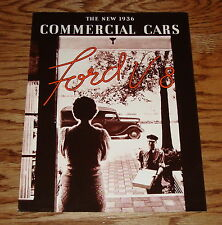 1936 Ford V-8 Commerical Cars Trucks & Wagon Sales Brochure 36