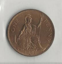 GREAT BRITAIN, 1951, PENNY, BRONZE, KM#869, CHOICE UNCIRCULATED  *LOW MINTAGE*