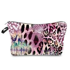 Multifunction Travel Cosmetic Bag Printing Leopard Makeup Case Pouch Organizer