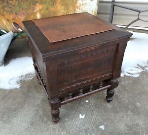 Antique Victorian Chamber Pot Potty Coffee Table Cabinet Seat Ottoman, Restored