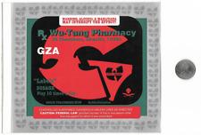 RARE GZA LIQUID SWORDS Promo Stickers SUPREME BOGO sticker set WUTANG 1995 RZA