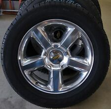 "NEW Chevy Silverado Tahoe Suburban Avalanche LTZ Polished 20"" Wheels Rims Tires"