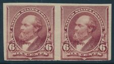 #224P5 6c 1890 PLATE PROOF ON STAMP PAPER F-VF OG (1)NH (1)XLH CV $225 BU7523
