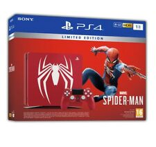 Console Sony Playstation 4 1tb e Chassis Slim Nero Black Marvel's Spider-man