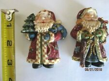Vintage Detailed Santa Claus Magnets Set of 2 Christmas A-6