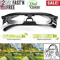Distance Vision Eyeglasses Dial Adjustable Reading Glasses Variable Focus Lens