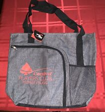 Carnival Players Club Premier Cruise Gray Zippered Tote Bag With Front Pocket