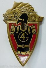 Insigne 4° RG REGIMENT DU GENIE émail grand feu ancien ORIGINAL Drago Paris