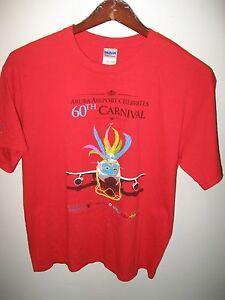 Reina Beatrix Aruba International Airport Carnival Celebration 2014 T Shirt Lrg