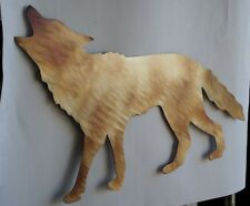 Hand-Made Heat/Torch Colored Metal Coyote,Home Decor,lodge,Wall,Art,Animal,Cabin