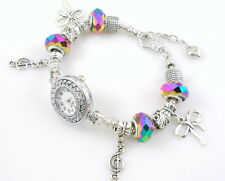 Watch Style Charm Bracelet Fit European Bead 20cm WN07