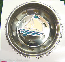 NEW BILLY JOE SAILBOAT STAINLESS SINK BASKET STRAINER STOPPER BOAT NAUTICAL